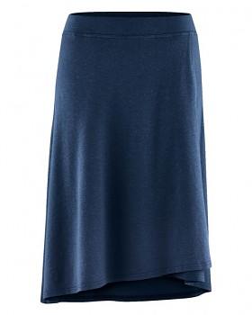 WICKY dámská asymetrická sukně z biobavlny a konopí - tmavě modrá navy