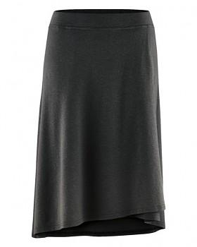 WICKY dámská asymetrická sukně z biobavlny a konopí - černá