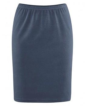 HOLLY dámská úpletová sukně z konopí a biobavlny - tmavě modrá wintersky
