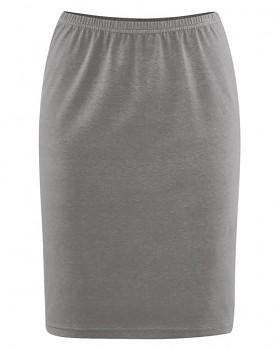 HOLLY dámská úpletová sukně z konopí a biobavlny - šedohnědá taupe