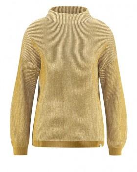 PULI dámský svetr z konopí a biobavlny - přírodní/ žlutá peanut