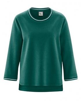 LAUREL dámský svetr z konopí a biobavlny - zelená spruce