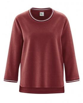 LAUREL dámský svetr z konopí a biobavlny - červenohnědá chestnut