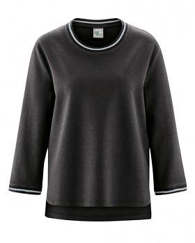 LAUREL dámský svetr z konopí a biobavlny - černá