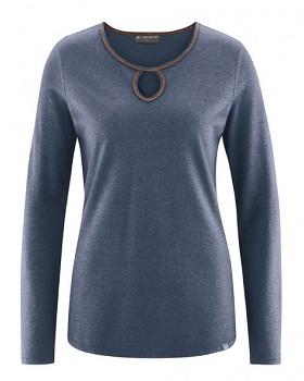 NORA dámské triko z konopí a biobavlny - tmavě modrá wintersky
