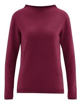 WOOL CUP pletený dámský vlněný pulovr - fialová rioja