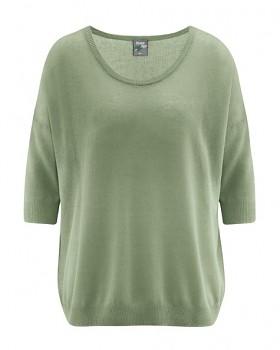 PEARL dámský pulovr z konopí a biobavlny - zelená cactus