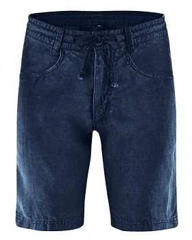 MANELLO unisex šortky ze 100% konopí - tmavě modrá navy