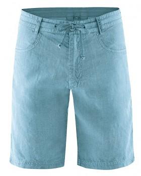 MANELLO unisex šortky ze 100% konopí - modrá wave