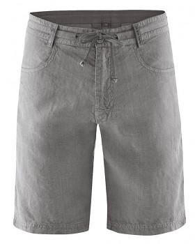 MANELLO unisex šortky ze 100% konopí - šedá taupe