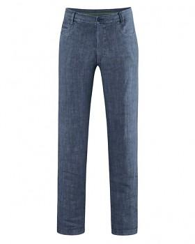 METRO unisex kalhoty ze 100% konopí - tmavě modrá wintersky