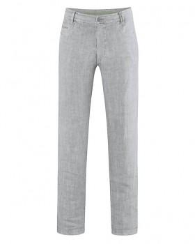 METRO unisex kalhoty ze 100% konopí - šedá quartz