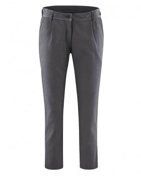 LYLA dámské 7/8 kalhoty z biobavlny a konopí - tmavě šedá antracit
