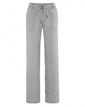 SUMMER dámské kalhoty ze 100% konopí - šedá quartz