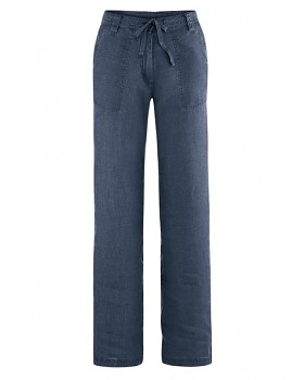 SUMMER dámské kalhoty ze 100% konopí - tmavě modrá wintersky