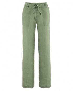 SUMMER dámské kalhoty ze 100% konopí - zelená cactus