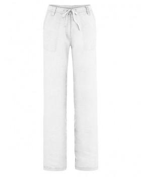SUMMER dámské kalhoty ze 100% konopí - bílá