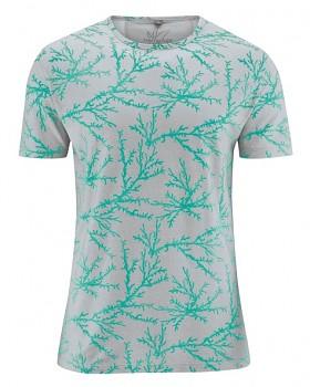 CORAL pánské tričko s krátkým rukávem z konopí a biobavlny - zelená emerald