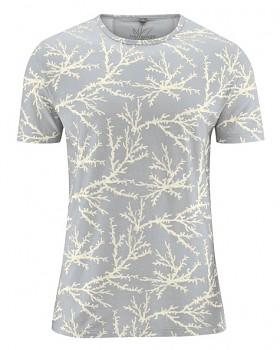 CORAL pánské tričko s krátkým rukávem z konopí a biobavlny - přírodní
