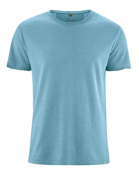 HENRYK pánské tričko s krátkým rukávem z konopí a biobavlny - modrá wave