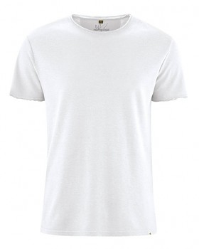 HENRYK pánské tričko s krátkým rukávem z konopí a biobavlny - bílá