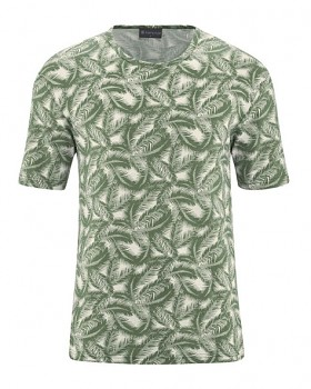 PALM pánské tričko s krátkým rukávem z konopí a biobavlny - zelená herb