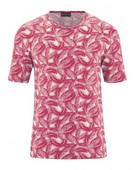 PALM pánské tričko s krátkým rukávem z konopí a biobavlny - červená sangria