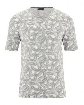 PALM pánské tričko s krátkým rukávem z konopí a biobavlny - šedá quartz