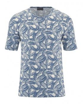 PALM pánské tričko s krátkým rukávem z konopí a biobavlny - modrá blueberry