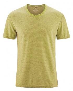 URS pánské tričko s krátkými rukávy z biobavlny a konopí - žlutá apple/ oranžová carrot