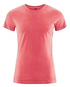 BRISCO pánské tričko z biobavlny a konopí - červená tomato