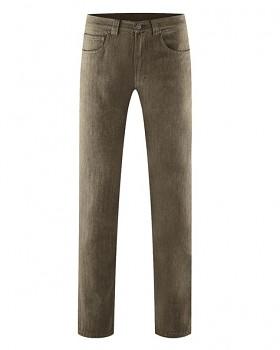 ALVIN pánské kalhoty z konopí a biobavlny - hnědá tobacco