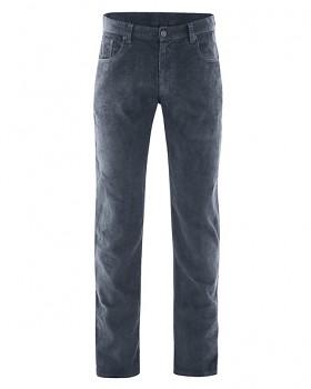 HORST pánské manšestrové kalhoty z konopí a biobavlny - tmavě šedá dark