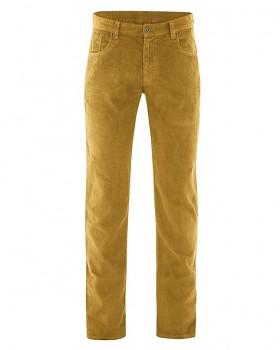 HORST pánské manšestrové kalhoty z konopí a biobavlny - žlutá peanut
