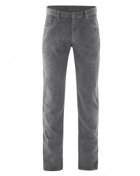HORST pánské manšestrové kalhoty z konopí a biobavlny - šedá stone