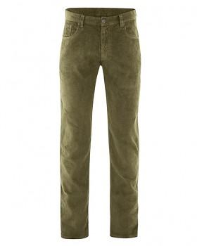HORST pánské manšestrové kalhoty z konopí a biobavlny - khaki peat