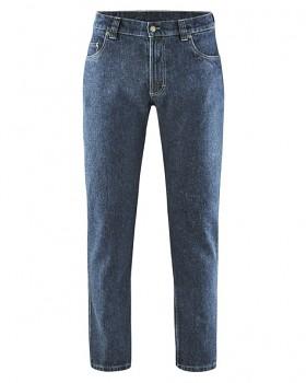 STERLING pánské džíny z konopí a biobavlny - modrá rinse
