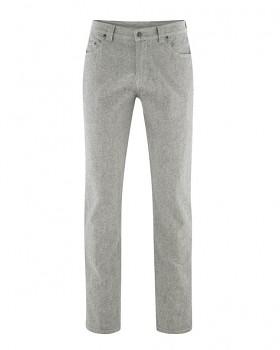 YAK pánské kalhoty z konopí a biobavlny a vlny - šedá quartz