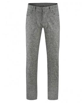 YAK pánské kalhoty z konopí a biobavlny a vlny - tmavě šedá antracit