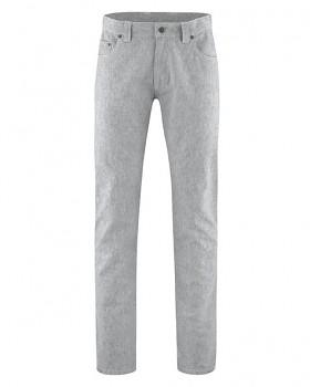 AIDEN pánské kalhoty z konopí a biobavlny - šedá quartz