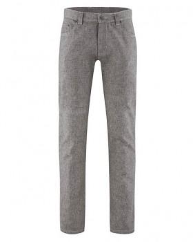 AIDEN pánské kalhoty z konopí a biobavlny - šedohnědá taupe