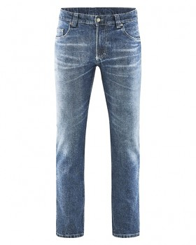BRODERICK pánské džíny z konopí a biobavlny - modrá laser