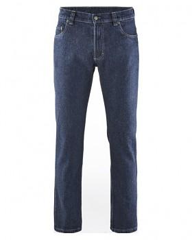 BRODERICK pánské džíny z konopí a biobavlny - modrá rinse