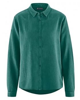 ELIANNA dámská košile z konopí a biobavlny - zelená spruce
