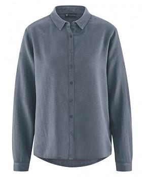 ELIANNA dámská košile z konopí a biobavlny - šedá char
