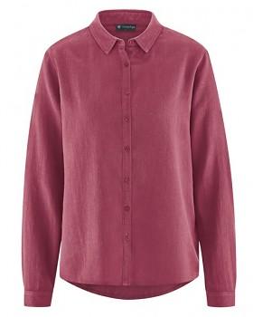 ELIANNA dámská košile z konopí a biobavlny - červená tinto