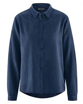 ELIANNA dámská košile z konopí a biobavlny - tmavě modrá navy