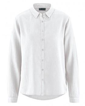 ELIANNA dámská košile z konopí a biobavlny - bílá