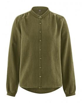 ALIVIA dámská košile z konopí a biobavlny - khaki peat