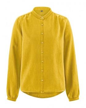 ALIVIA dámská košile z konopí a biobavlny - žlutá curry